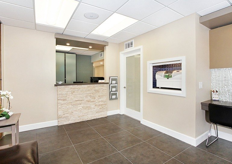 Covina dental office reception area